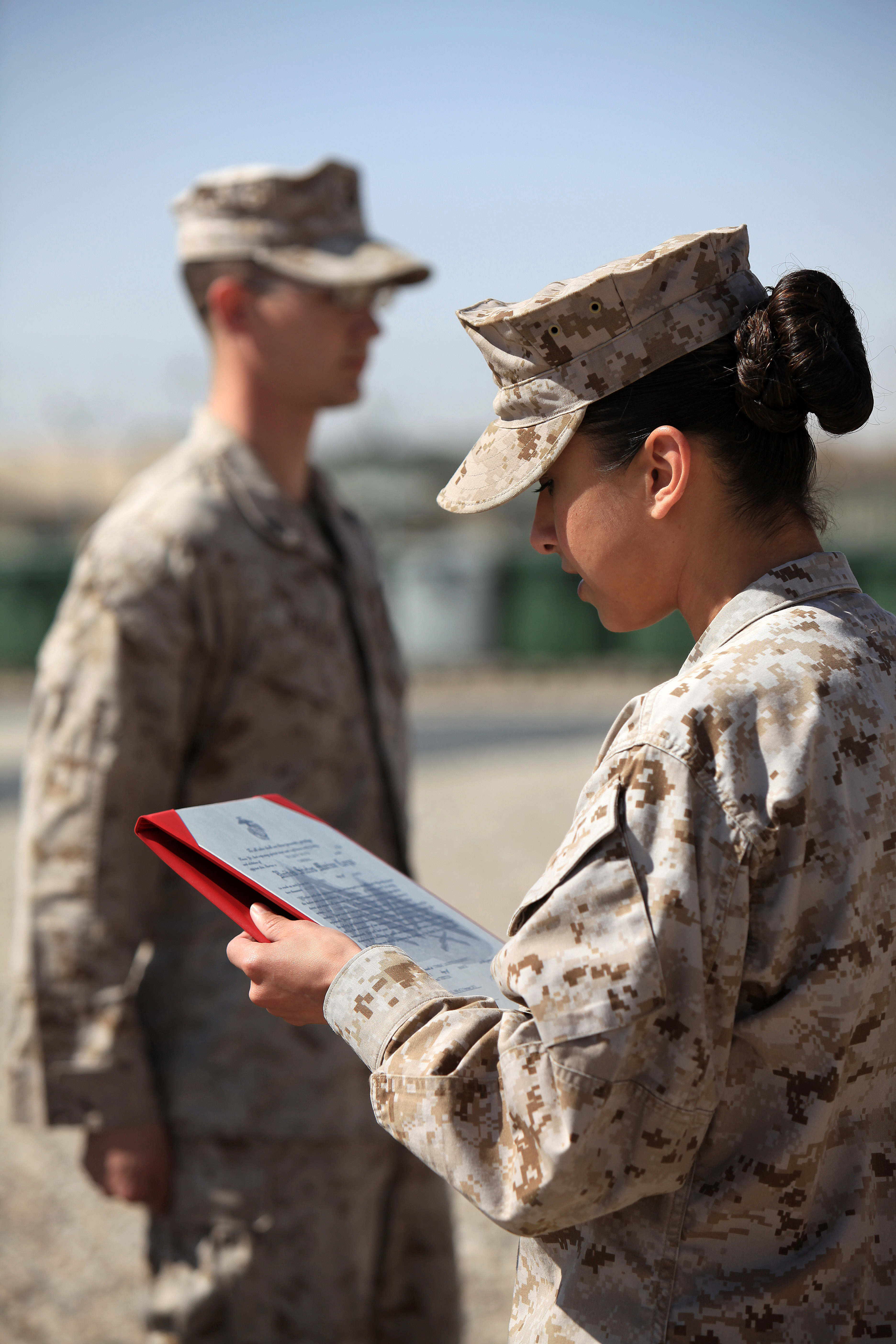 File:U.S. Marine Corps Staff Sgt. Shasta Burns, right, reads Lance ...