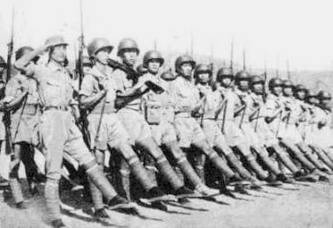 US equipped Chinese Army in India marching.jpg
