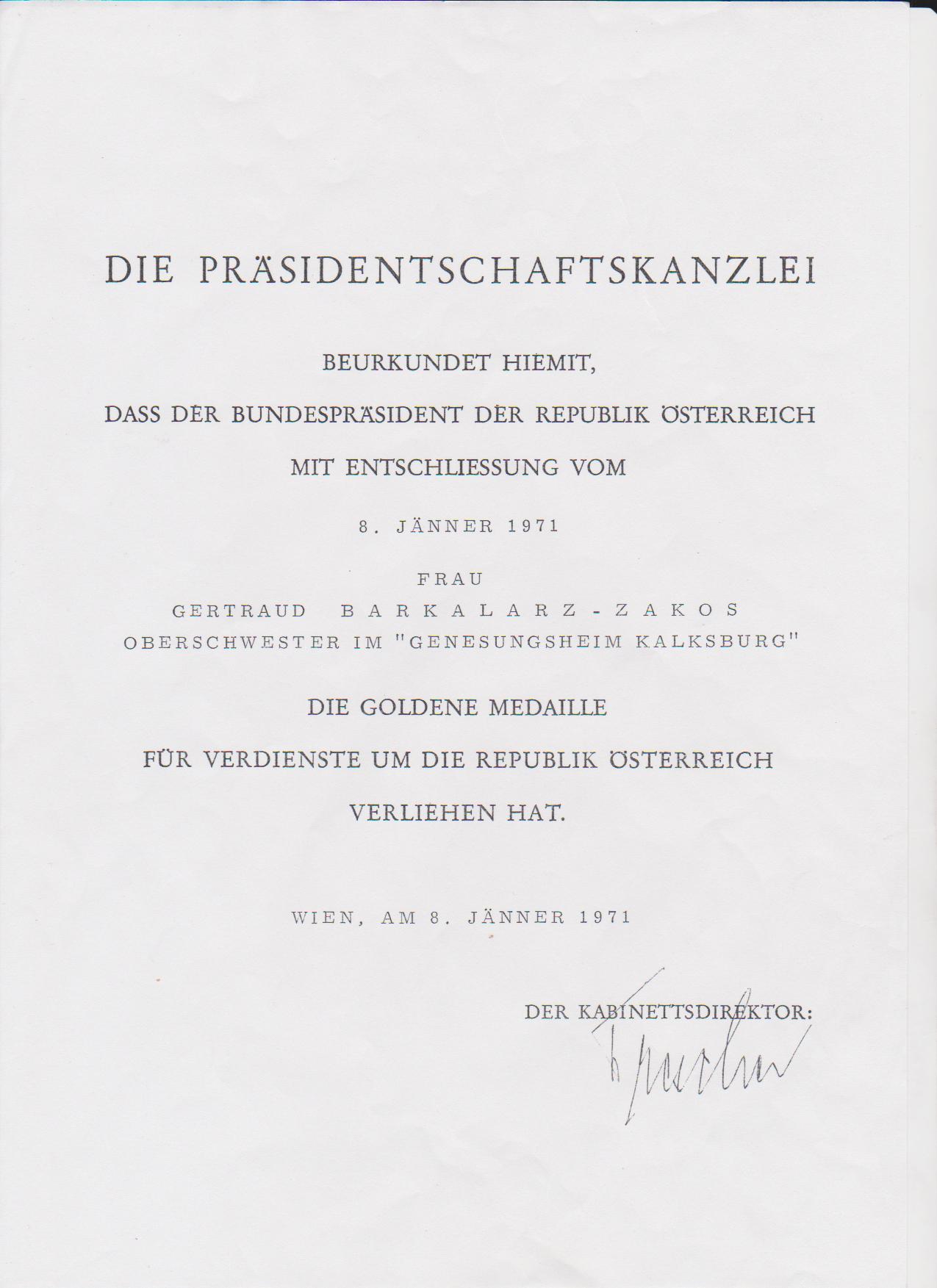 File:Verleihungsurkunde Gertraud Bakalarz-Zakos.jpg - Wikimedia Commons