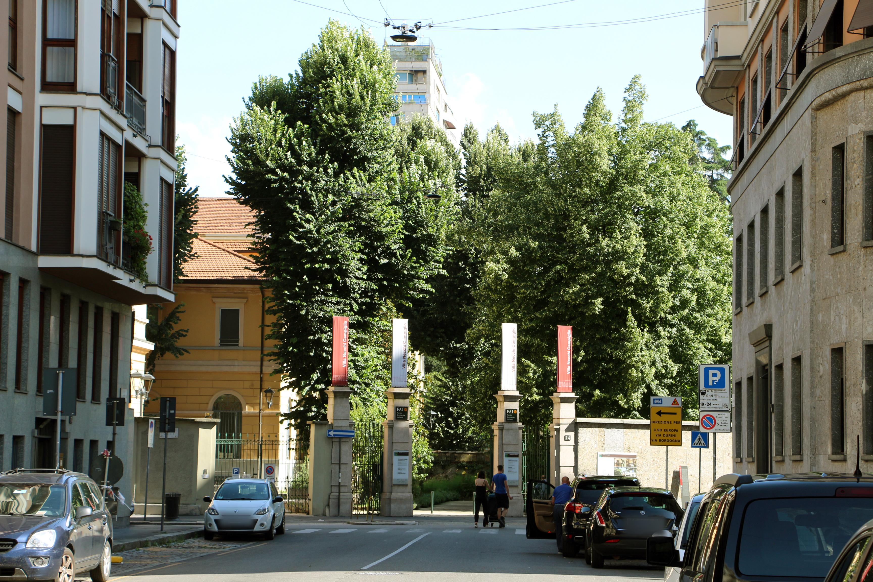 File Villa Necchi Campiglio Esterno Ingresso Jpg Wikimedia Commons