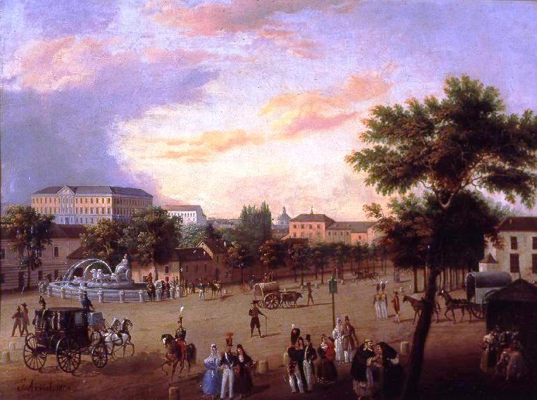 File Vista De La Fuente De Cibeles Y El Palacio De
