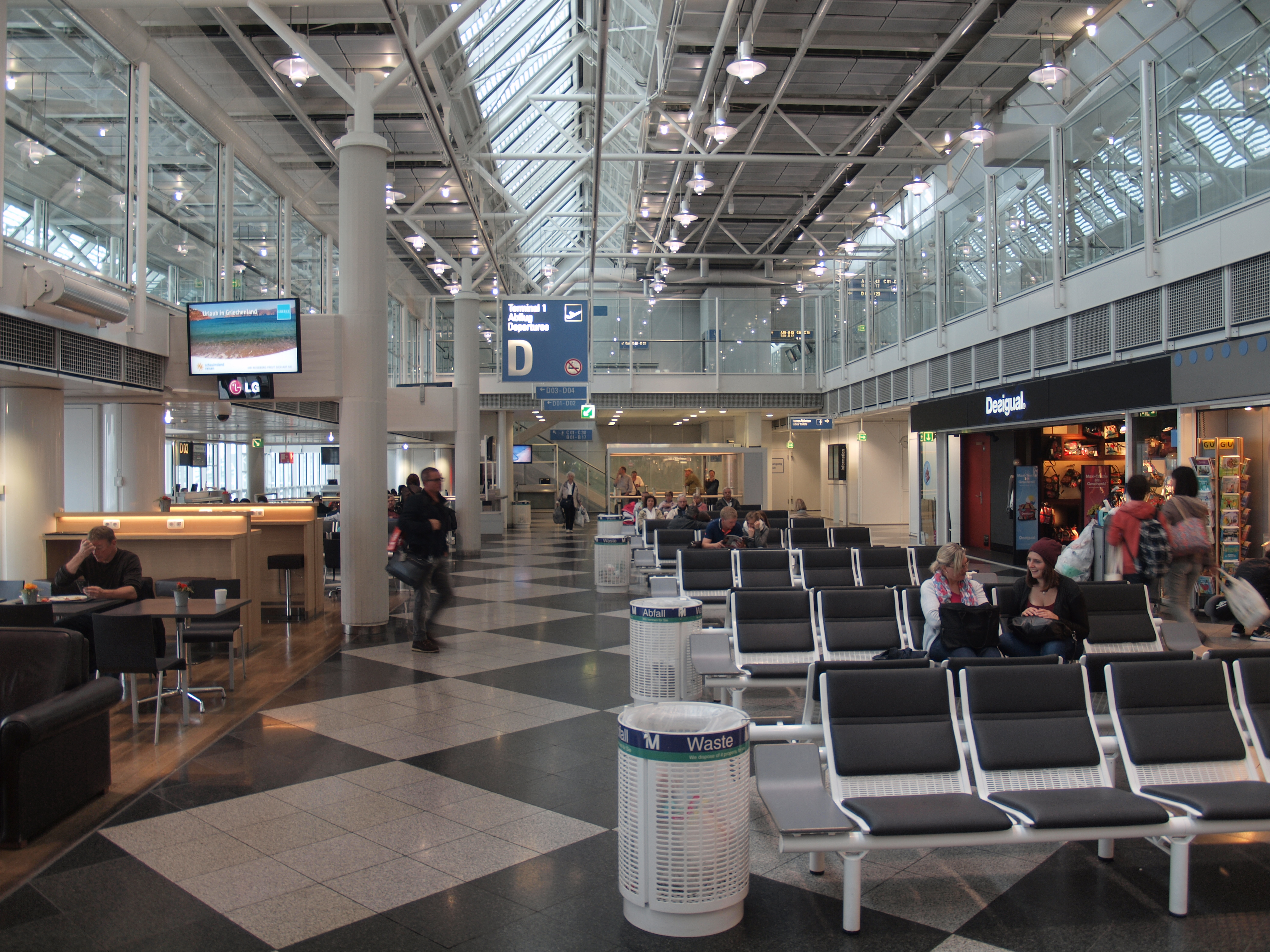 Munich airport people mover new satellite terminal youtube