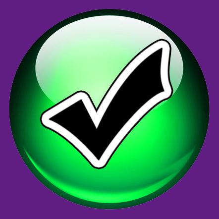 File:Wiki icon green violet ok.jpg - Wikimedia Commons