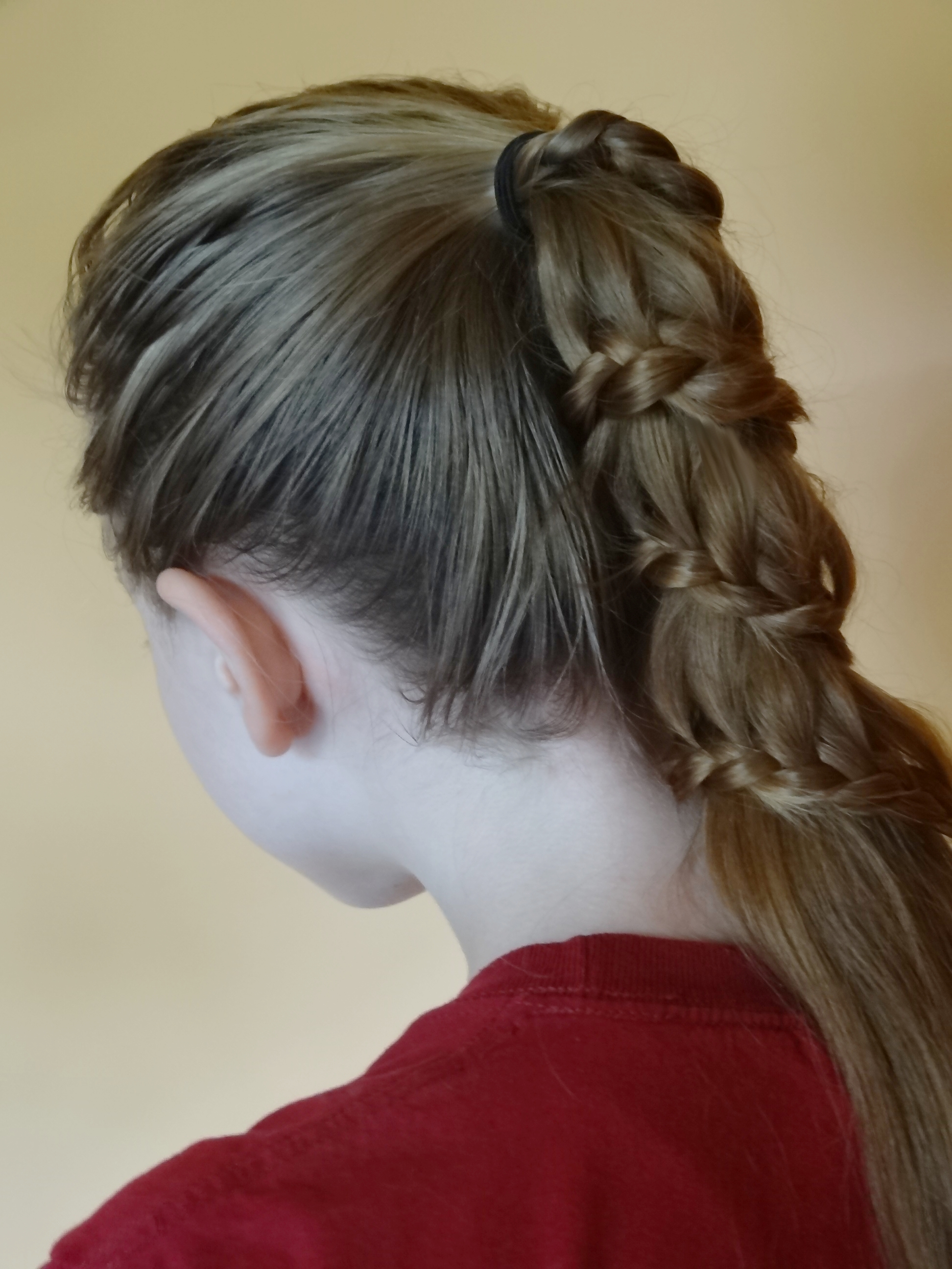Winding Lace Braid Ponytail | 1000 images about hairstyles ...