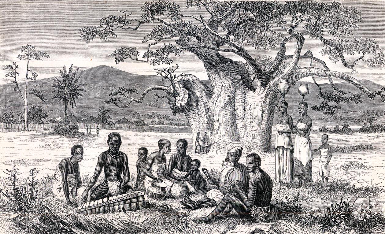 Marimba players in Africa