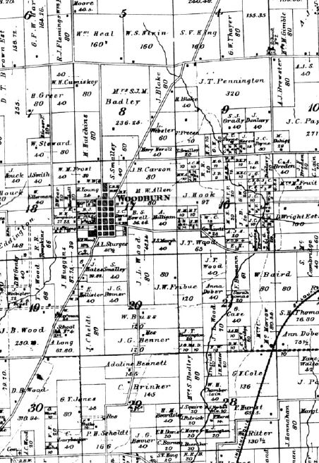 Bunker Hill Illinois Map.File Woodburn Area Excerpt From The Bunker Hill Township Map Within