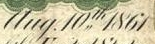 Date appearing on $5 Demand Notes