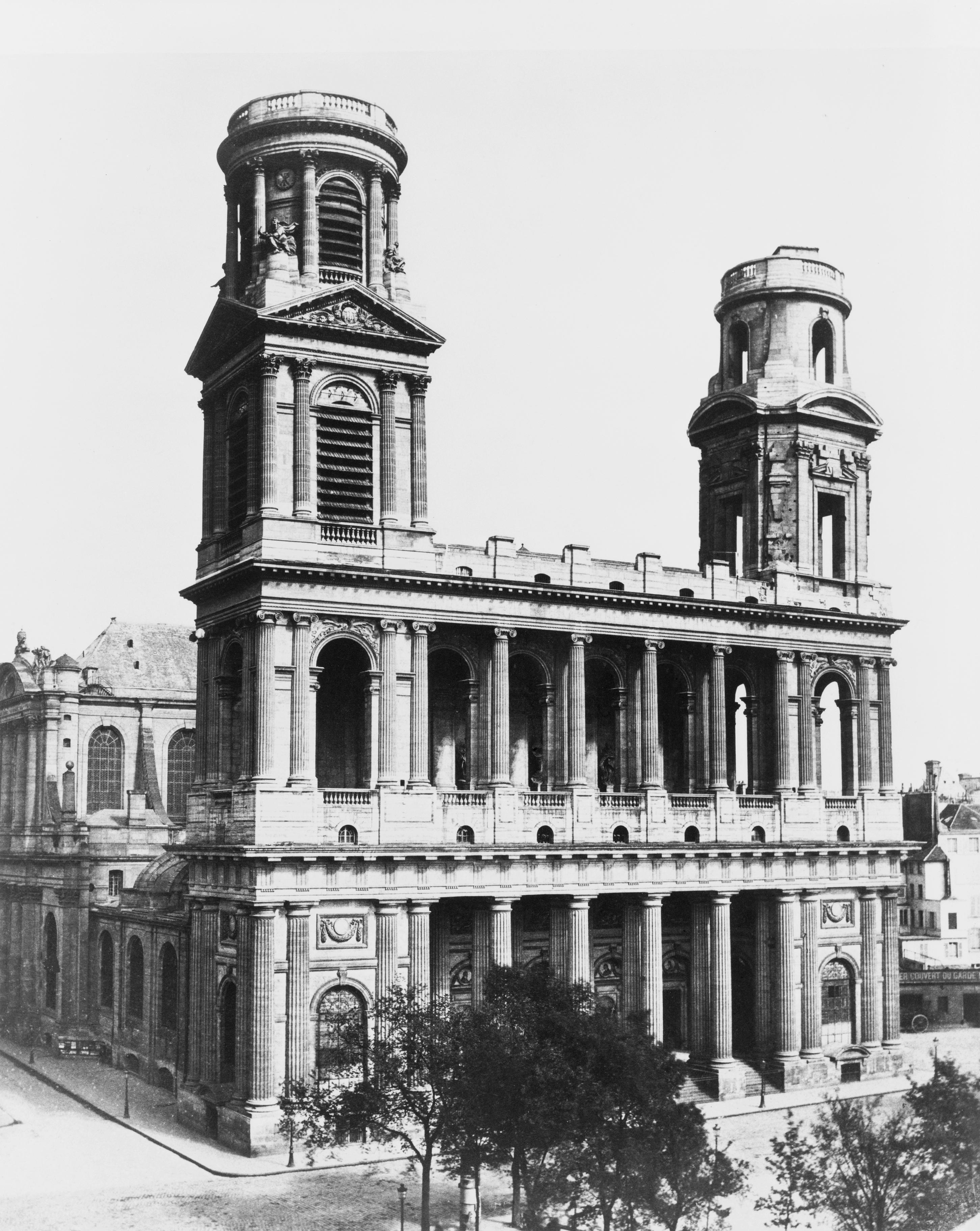 Église Saint-Sulpice vers 1851-1870 (photographie d'Édouard Baldus).