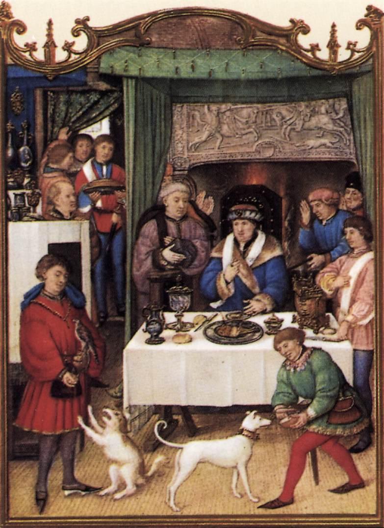 Monatsbild Januar. Breviarium Grimani (Flandern, ca. 1510; Venedig, Bibl. Marc.)