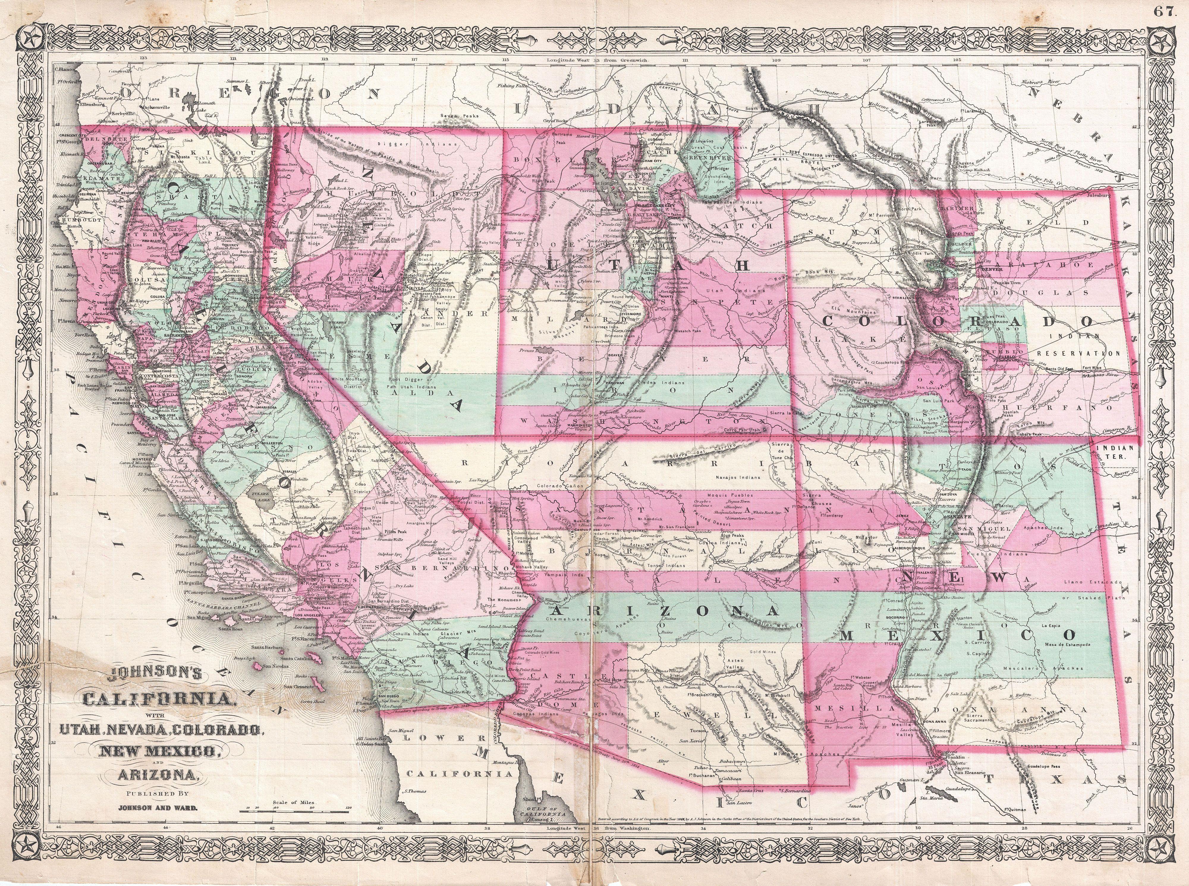 Map Of New Mexico Colorado And Arizona