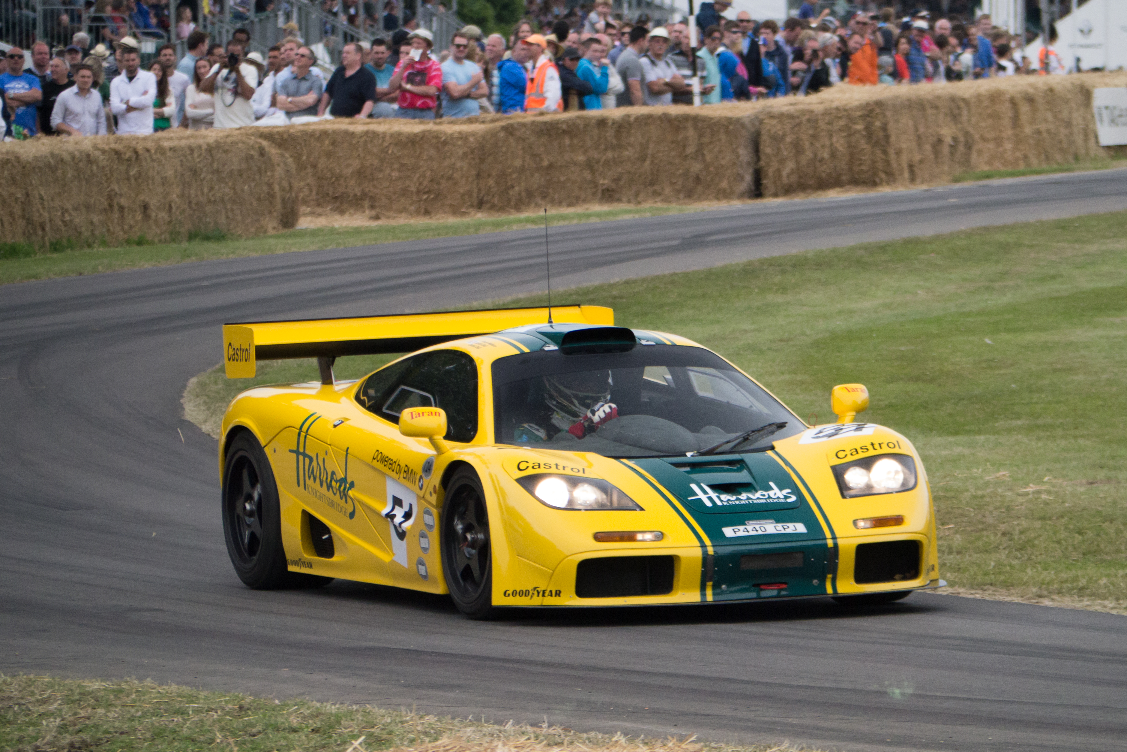 A 1995 Spec F1 GTR At The Goodwood Festival Of Speed Sporting Infamous Harrods Livery