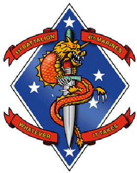 1st Battalion 4th Marines Insignia