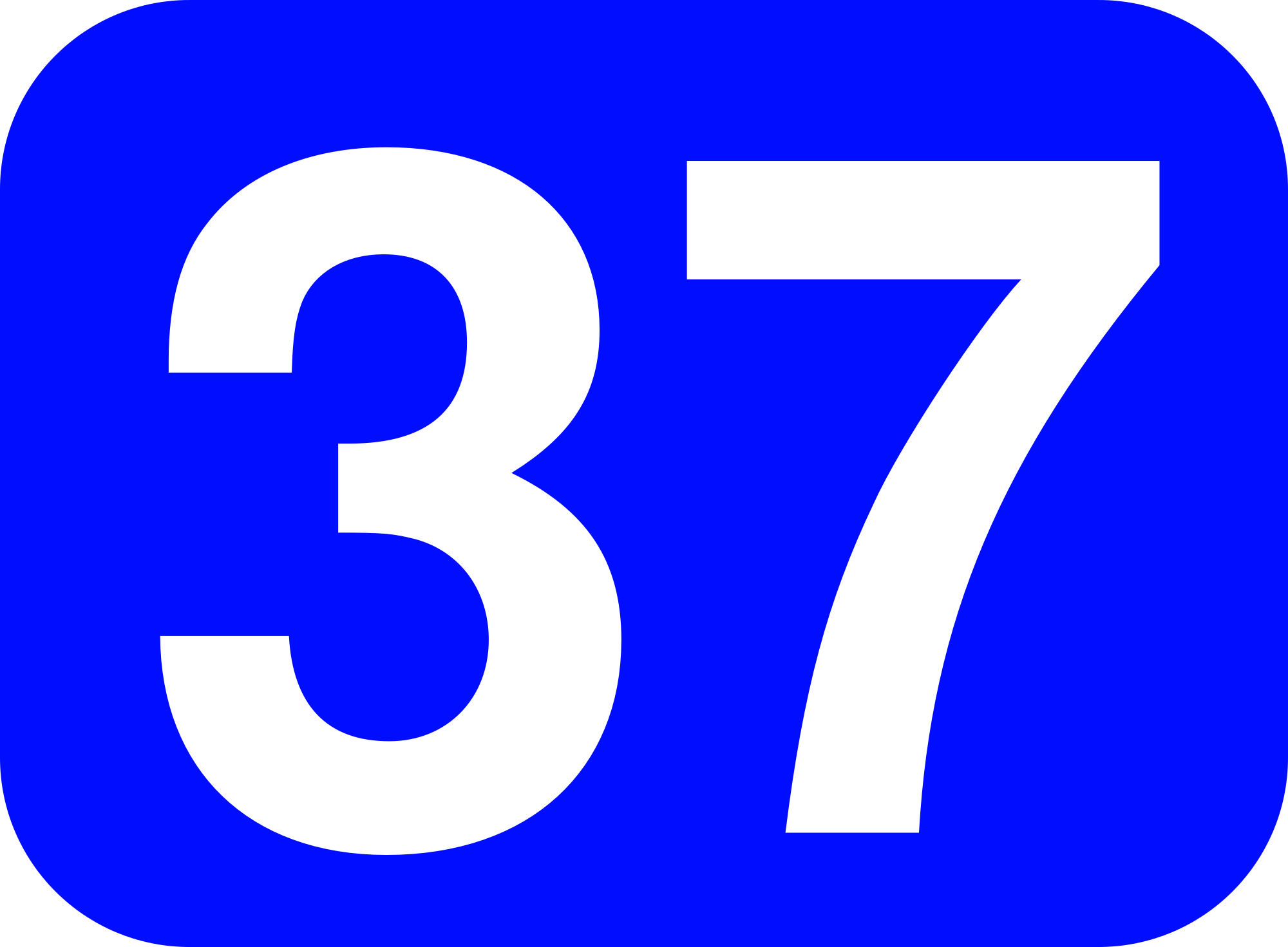 File:37 white, blue rounded rectangle.png