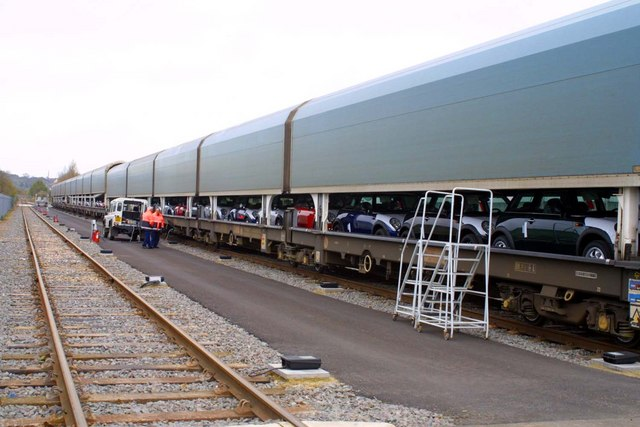 File A Loaded Car Train Being Closed At Bmw In Cowley