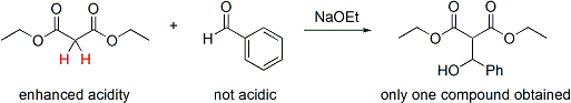 Acidic control of the aldol reaction