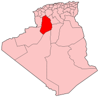 Map of Algeria showing El Bayadh province