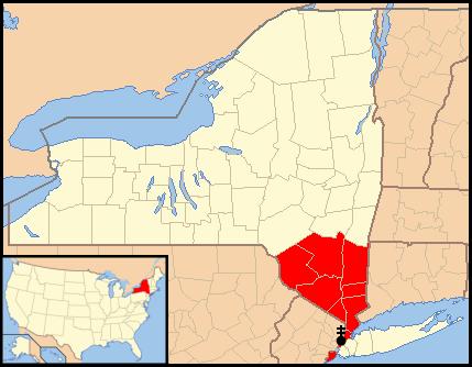 Nowy Jork Mapa Mapa Archidiecezji Nowy Jork