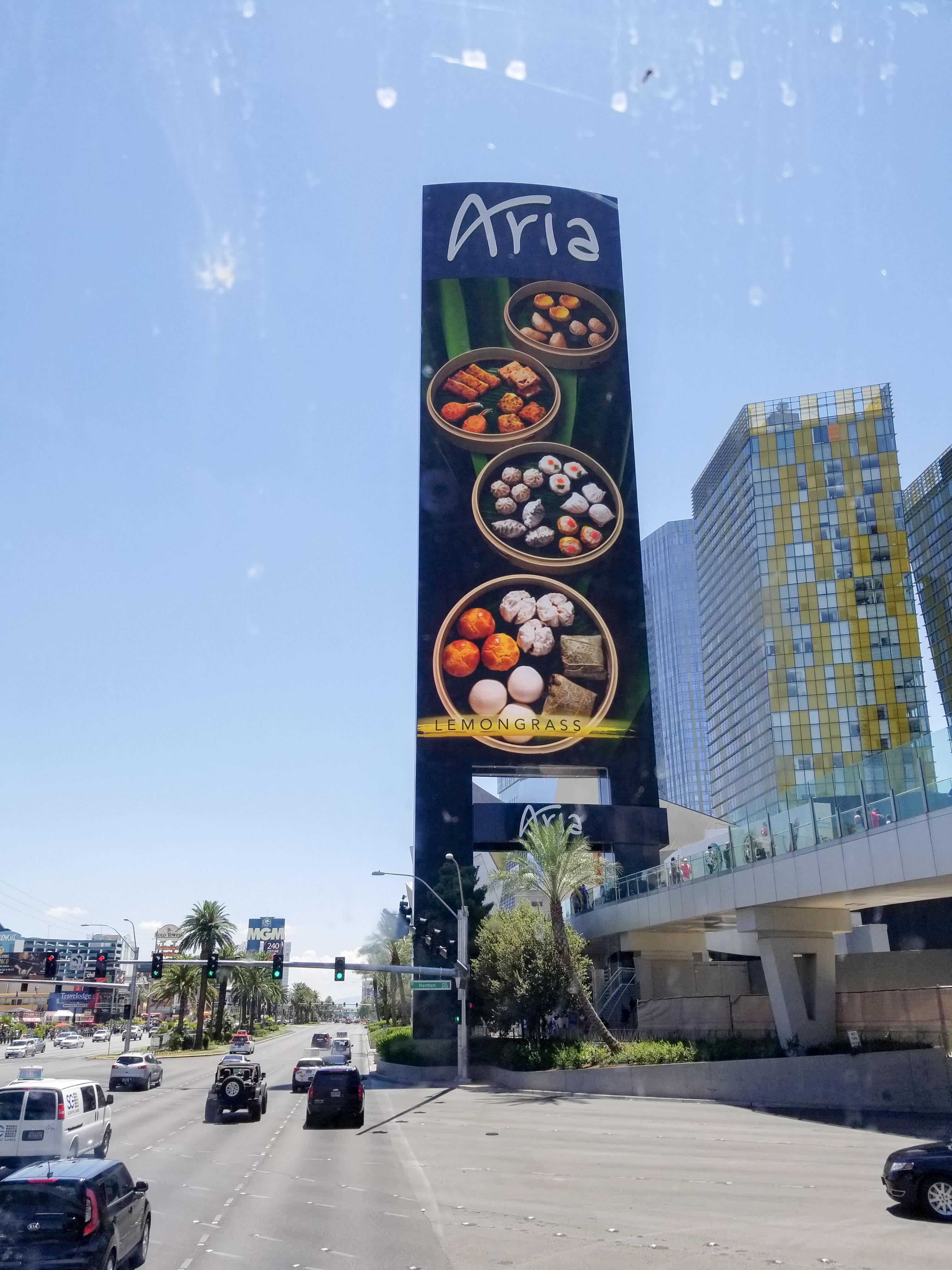 11 March 2019 English Aria casino LCD screen.