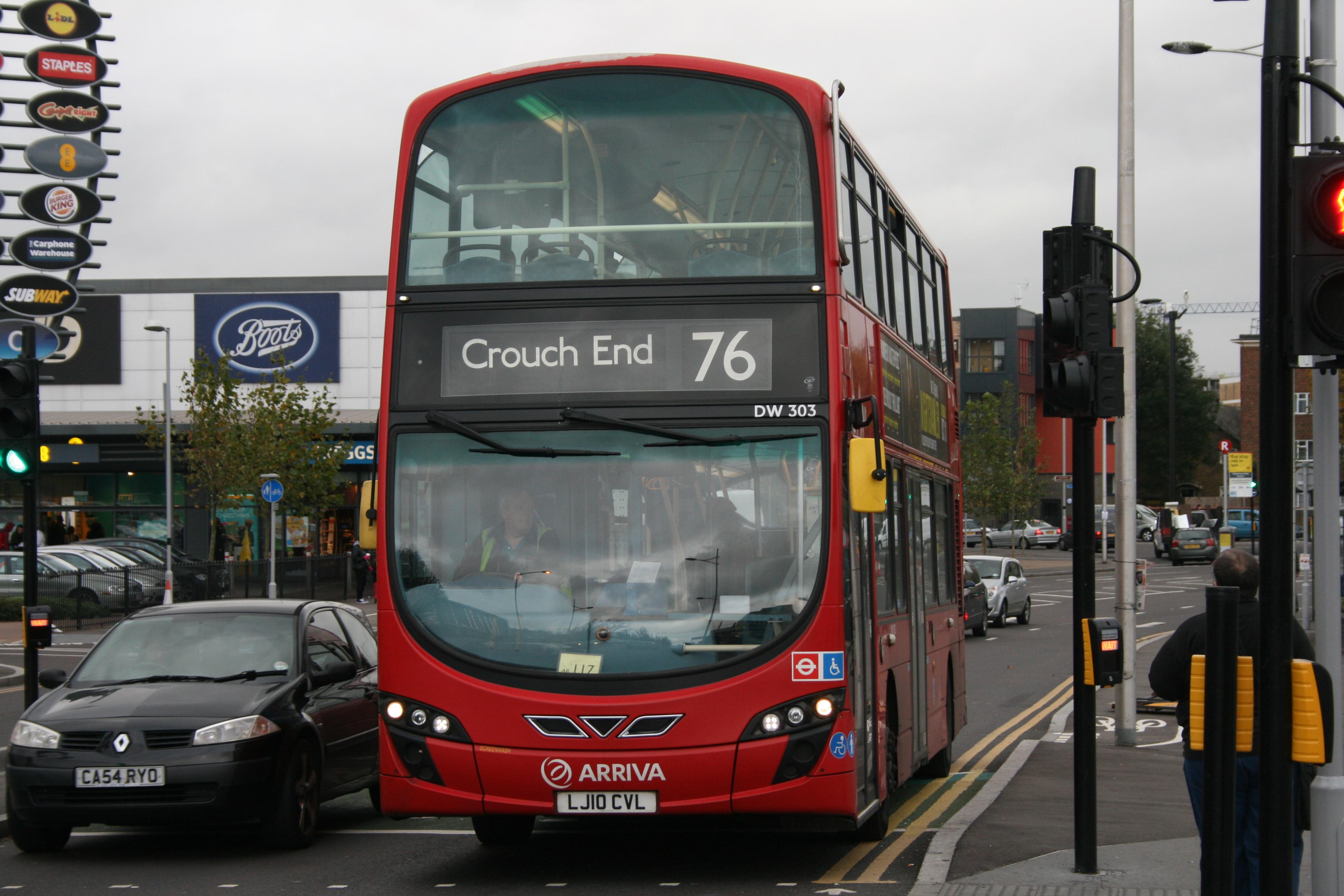 File Arriva London Dw303 On Route 76 Tottenham Hale