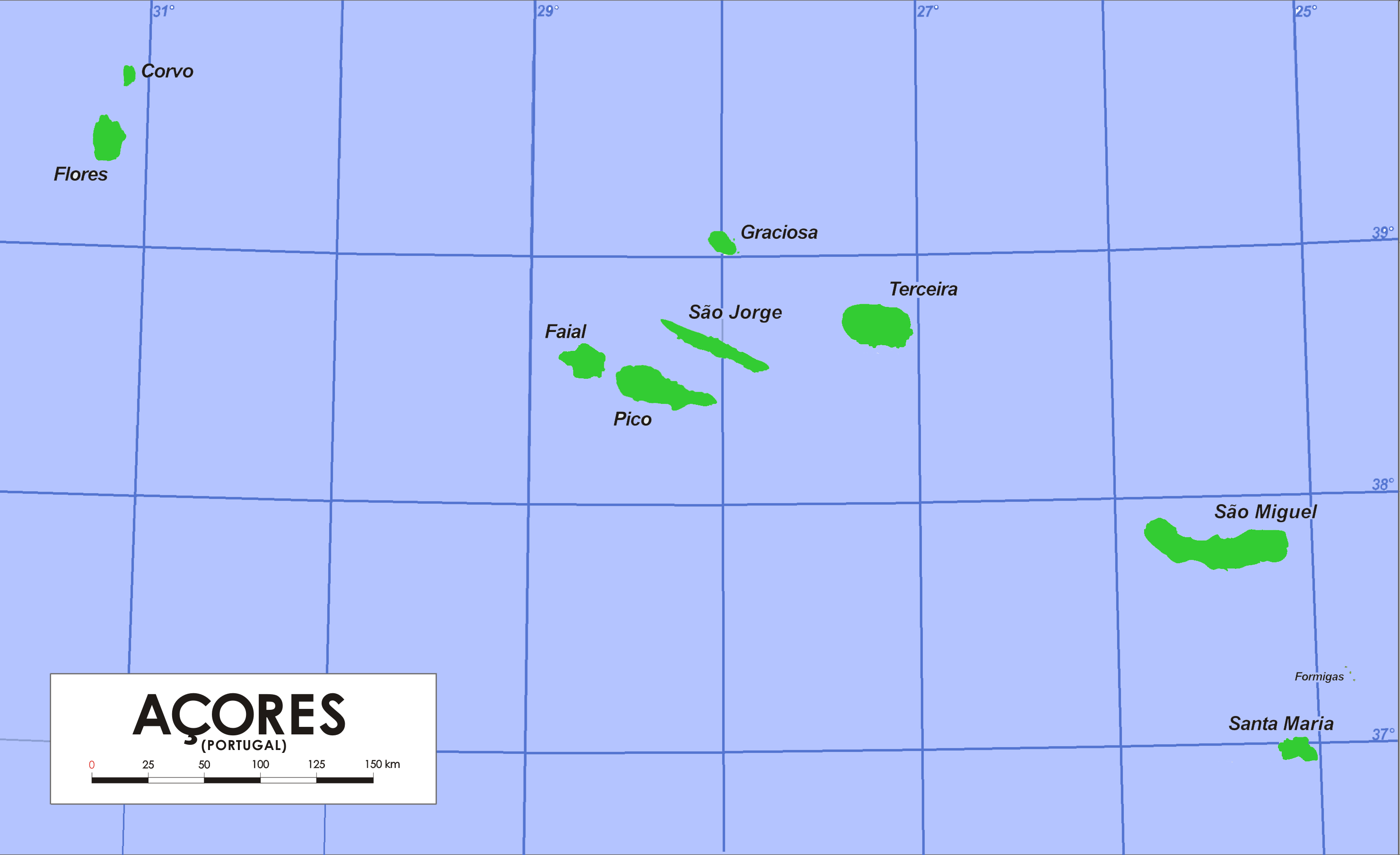 Map Of Azores File:Azores Base Map.png   Wikimedia Commons Map Of Azores