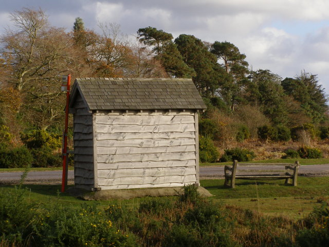 Back of the bus shelter, Station Road, Burley, New Forest - geograph.org.uk - 624612
