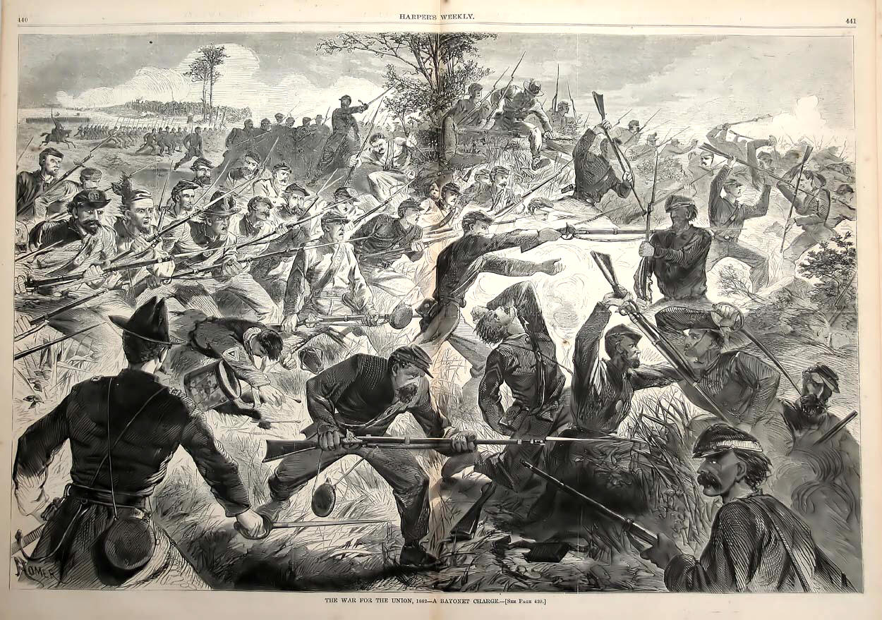 Bayonet Charge by Winslow Homer, 1862