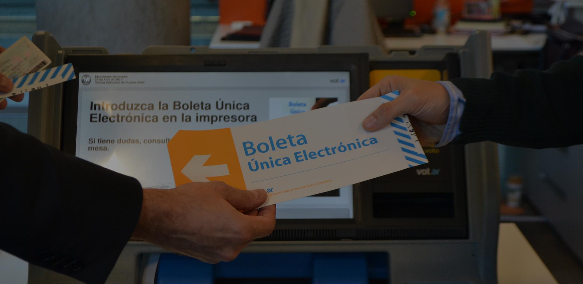 Foto de boleta elecrónica