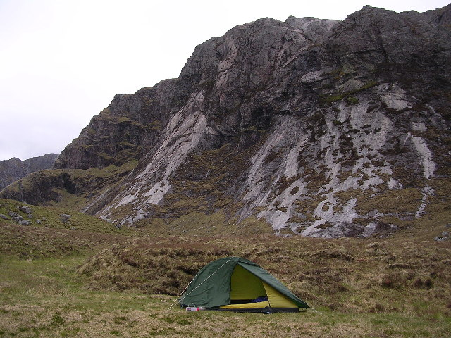 File:Camping at Head of Fionn Loch - geograph.org.uk - 47709.jpg