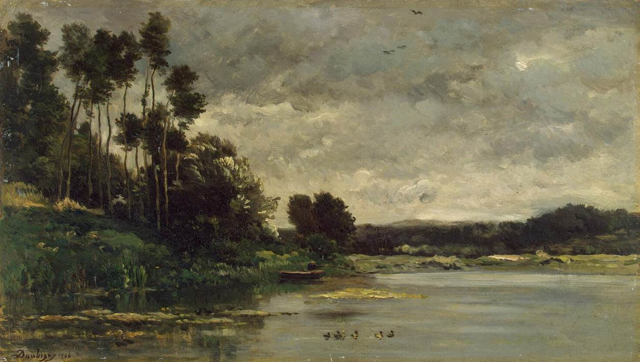 White Landscape Painting