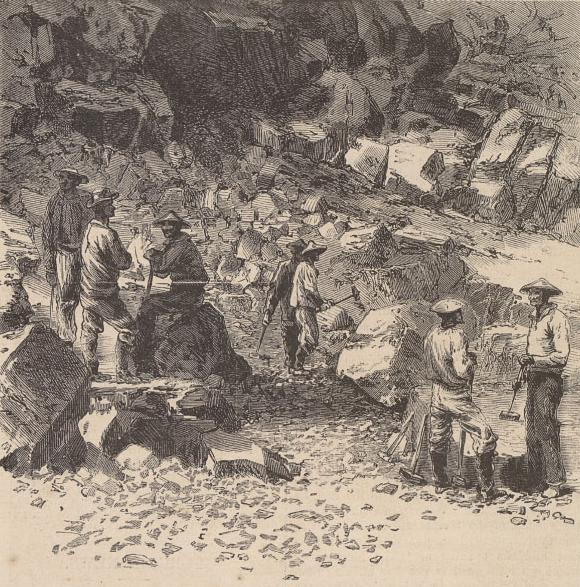 """Chinese Laborers at Work"": Harper's Weekly, Vol. 11, 1867"