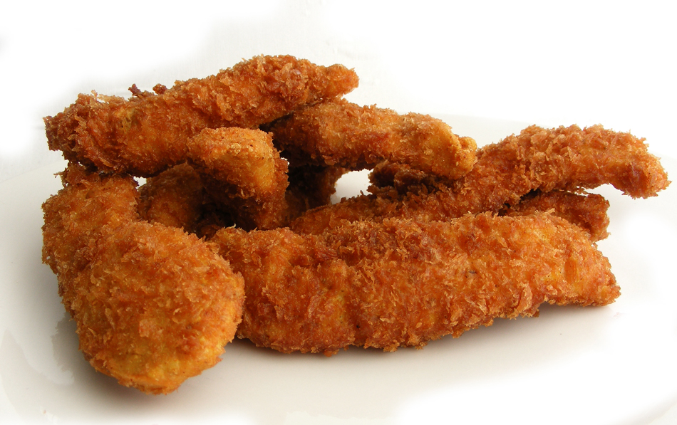 Sorry, chicken strips deep fried something