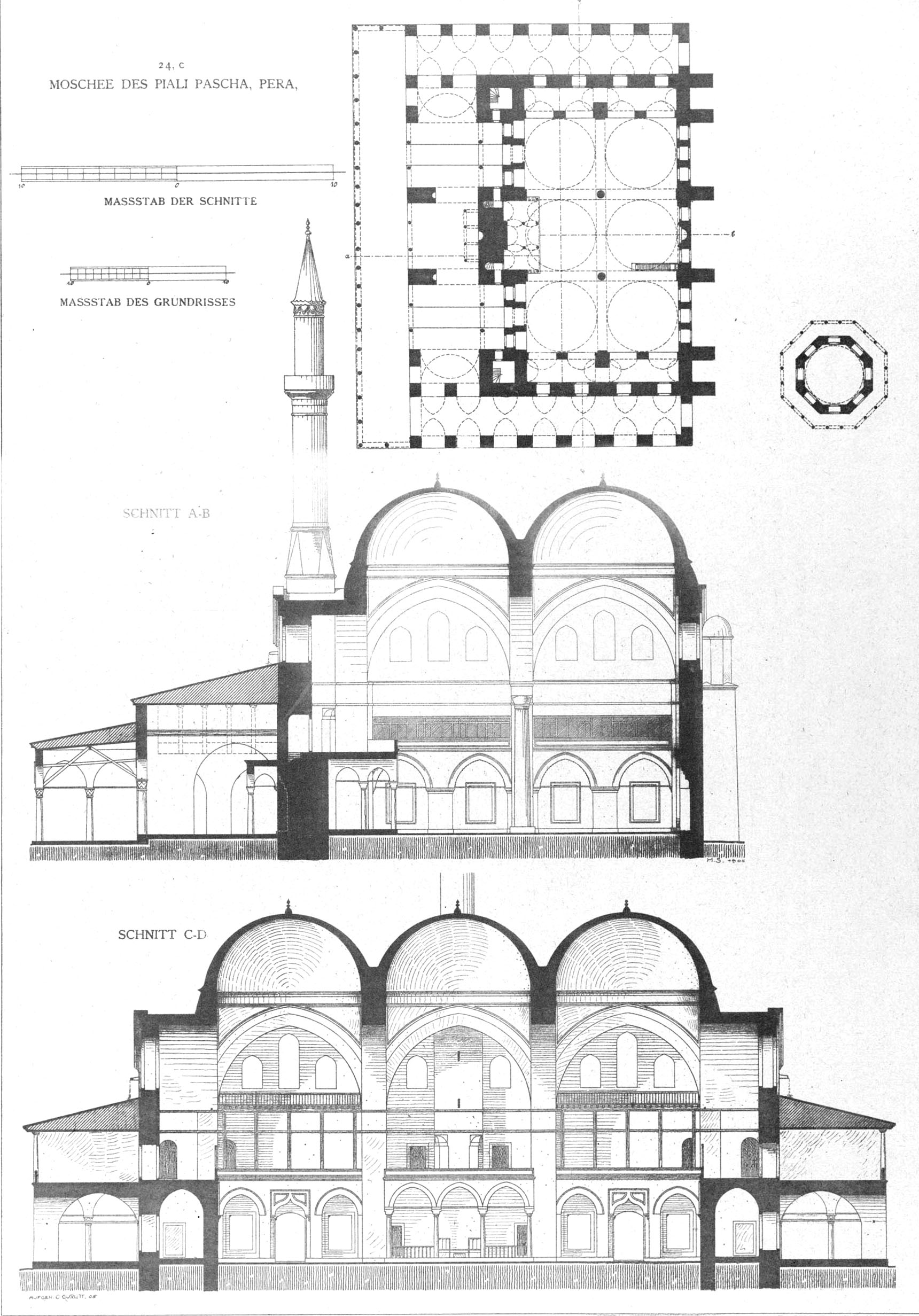 Plan Elevation Section Of Mosque : Piyale pasha mosque wikiwand