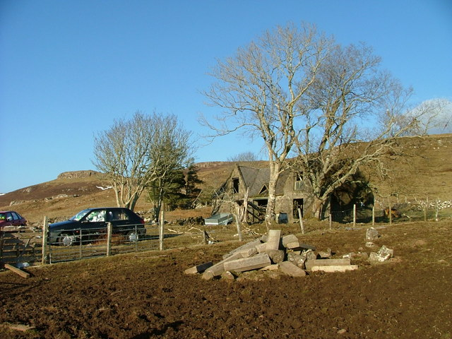 File:Dilapidated croft house at Eyre - geograph.org.uk - 1779627.jpg