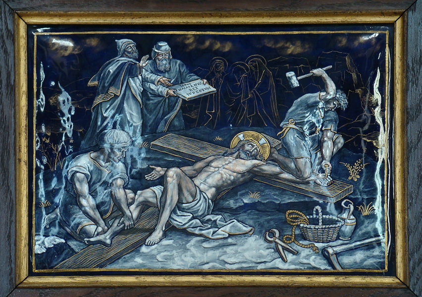 File:ELEVENTH STATION Jesus is nailed to the Cross.jpg - Wikimedia ...