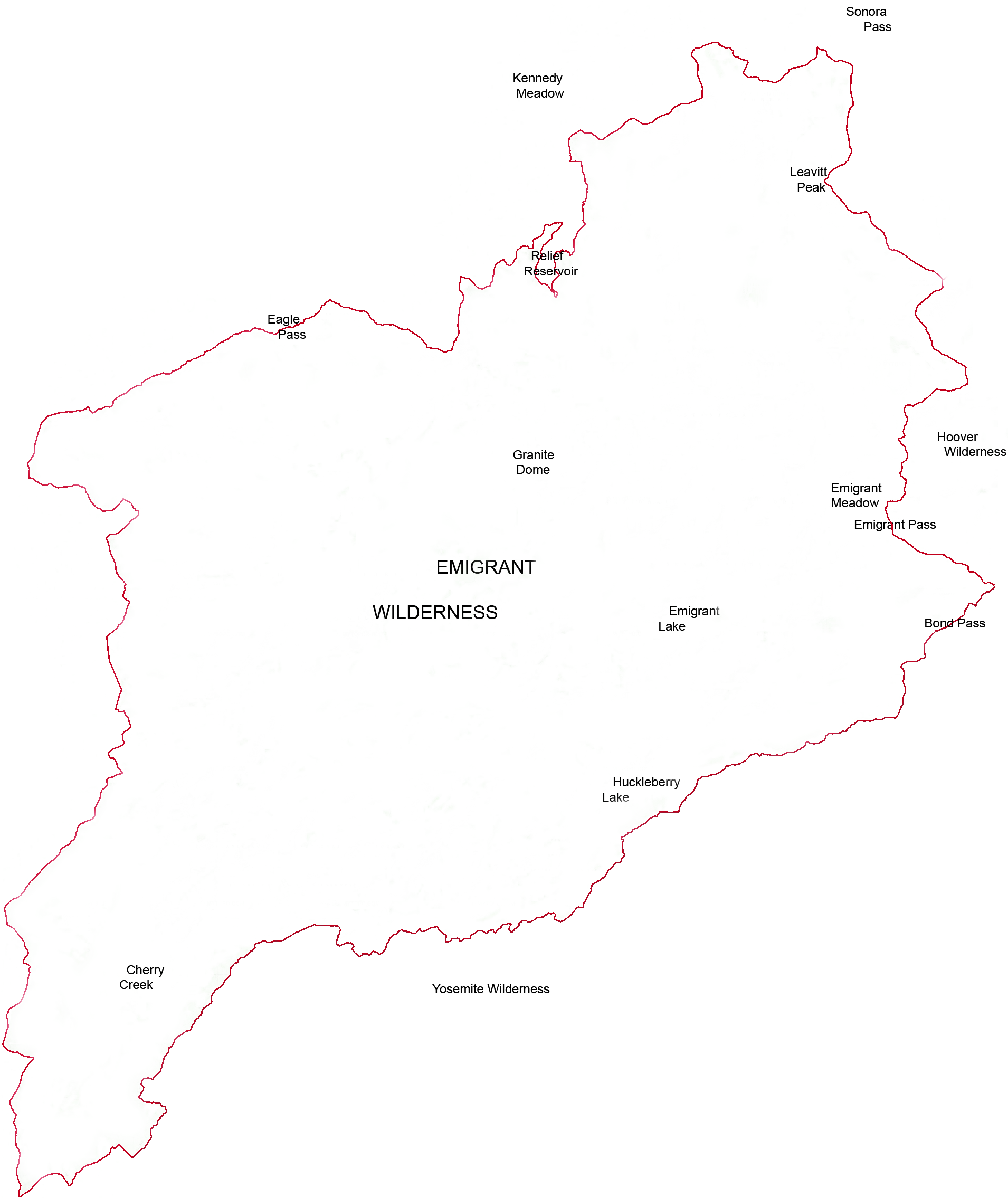 File:Emigrant Wilderness outline map.png - Wikimedia Commons