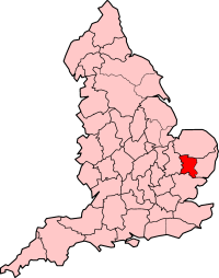 West Suffolk shown with 1965-1974 boundaries.