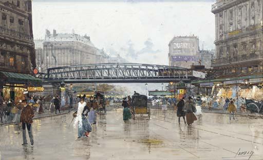 Fichier:Eugène Galien-Laloue Paris Boulevard de la Villette.jpg