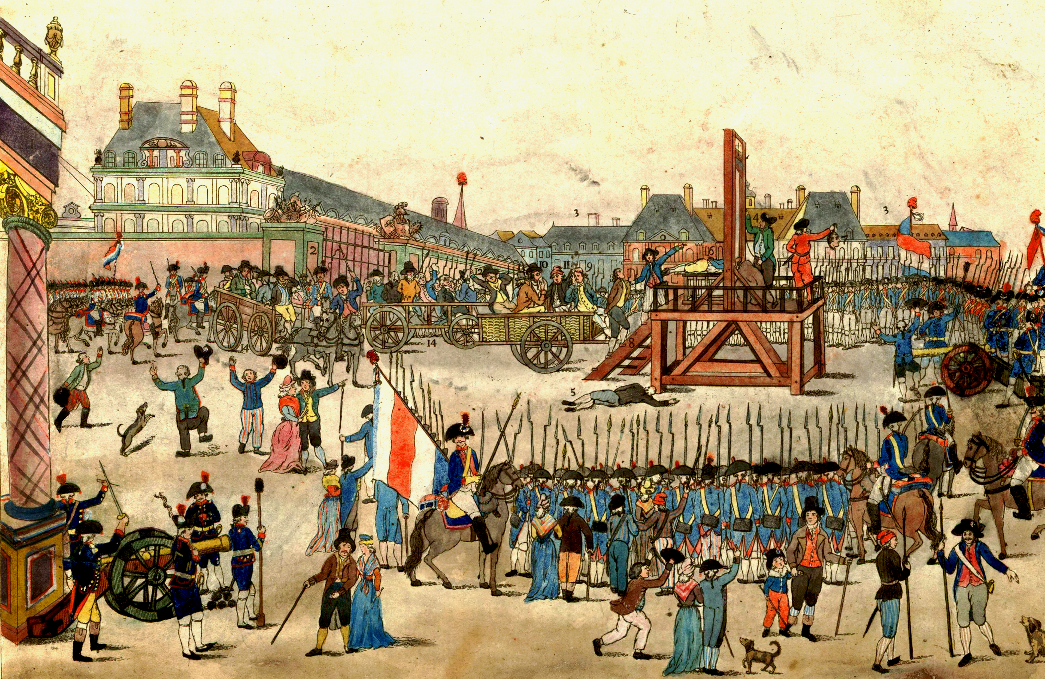 The French Revolution: Execution of King Louis XVI. Photo courtesy of https://jspivey.wikispaces.com/Parlement+YK