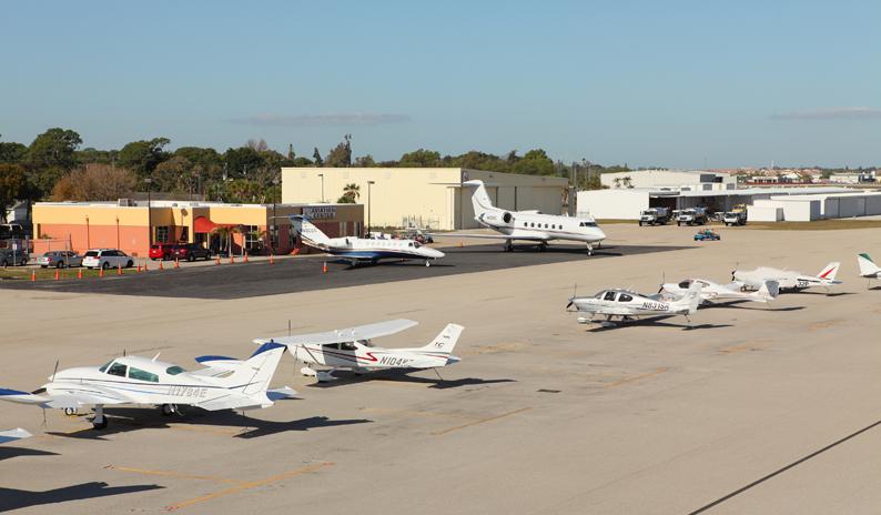 Plataforma de Aviación General de un aeropuerto.