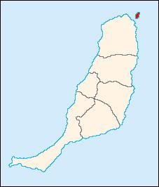 Mapa De Fuerteventura Municipios.Islote De Lobos Canarias Wikipedia La Enciclopedia Libre