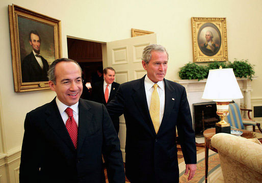 Birds of a Feather ??? Felipe Calderon and War Criminal George W Bush - From Wikipedia, the free encyclopedia