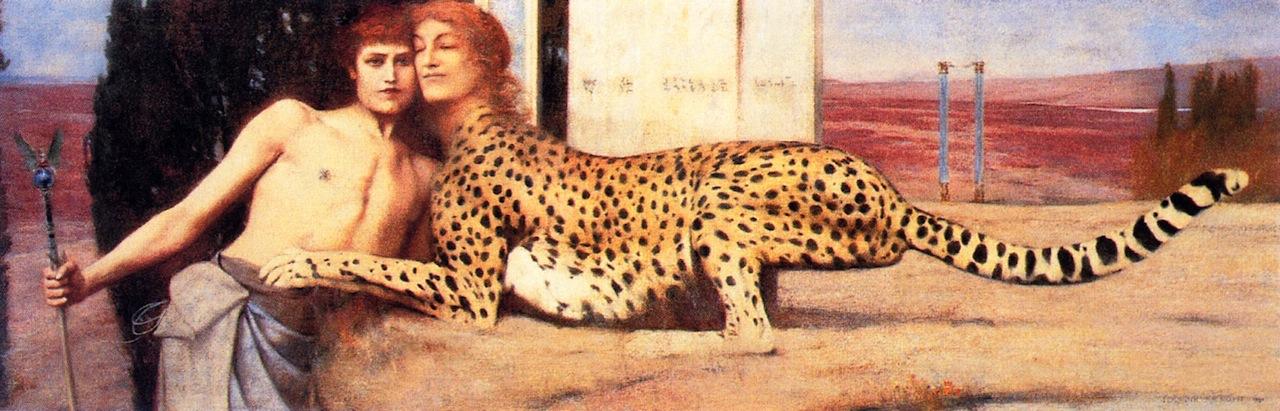 Des caresses, ou l'Art, ou le Sphinx, Fernand Khnopff, 1896