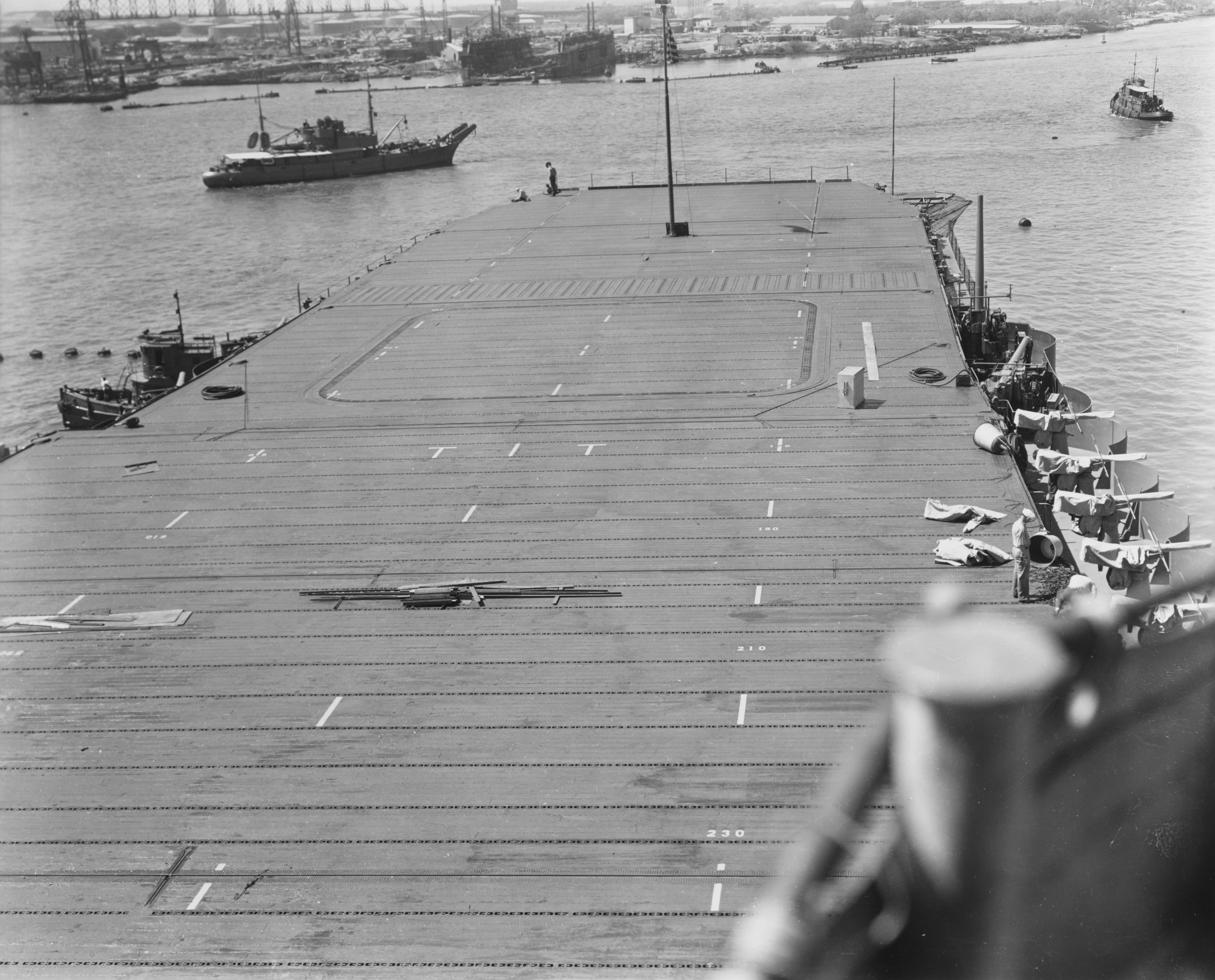 File:Forward flight deck of USS Enterprise (CV-6) in March