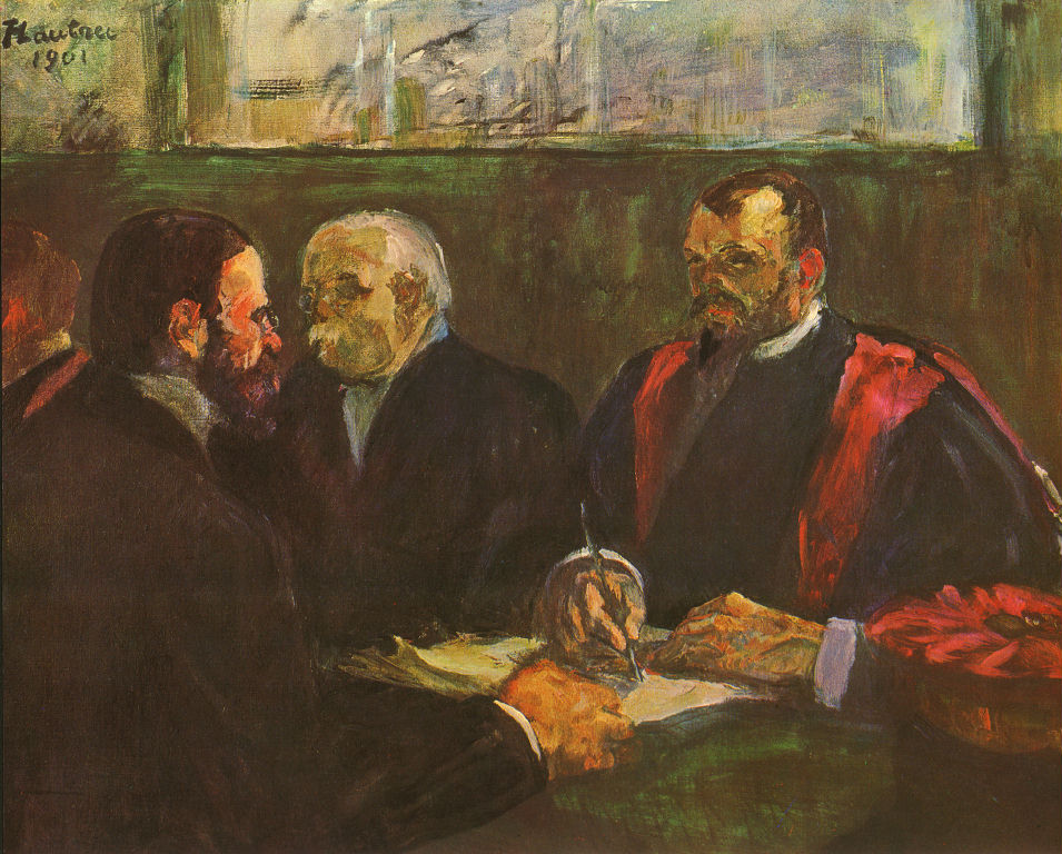 Painted by Toulouse-Lautrec in the year of his own death: an examination in the Paris faculty of medicine, 1901