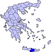 Location of Heraklion Prefecture in Greece
