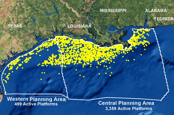Oil Rigs In Gulf Of Mexico Map.File Gulf Coast Platforms Jpg Wikimedia Commons