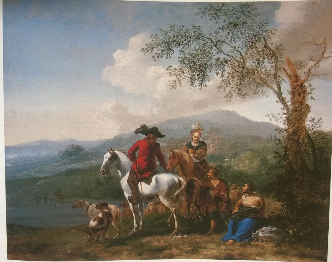 Mountain Landscape with Horsemen and Shepherds