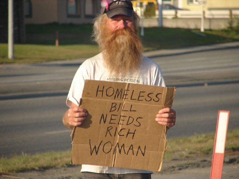 Homeless man in Anchorage