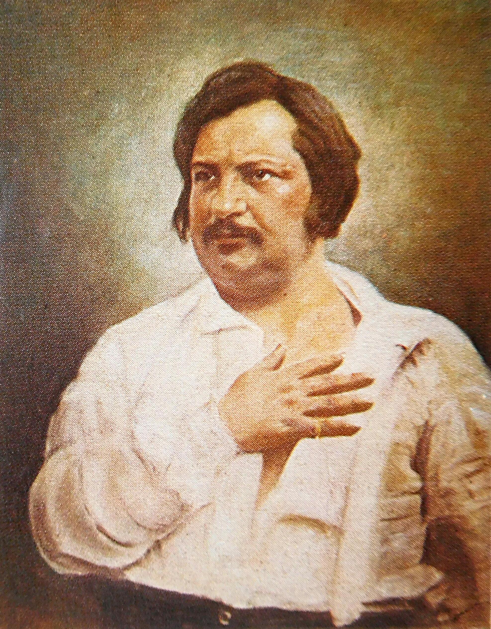 Photo Honoré de Balzac via Opendata BNF