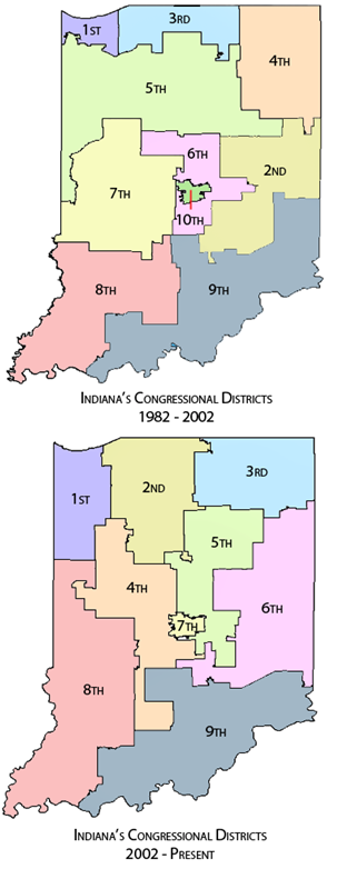 The two different locations of the 7th district since 1982.
